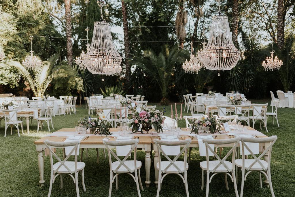 decoración boda al aire libre