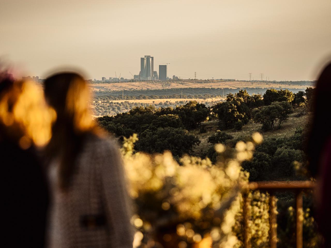 vistas de Madrid desde la finca de bodas Ronda