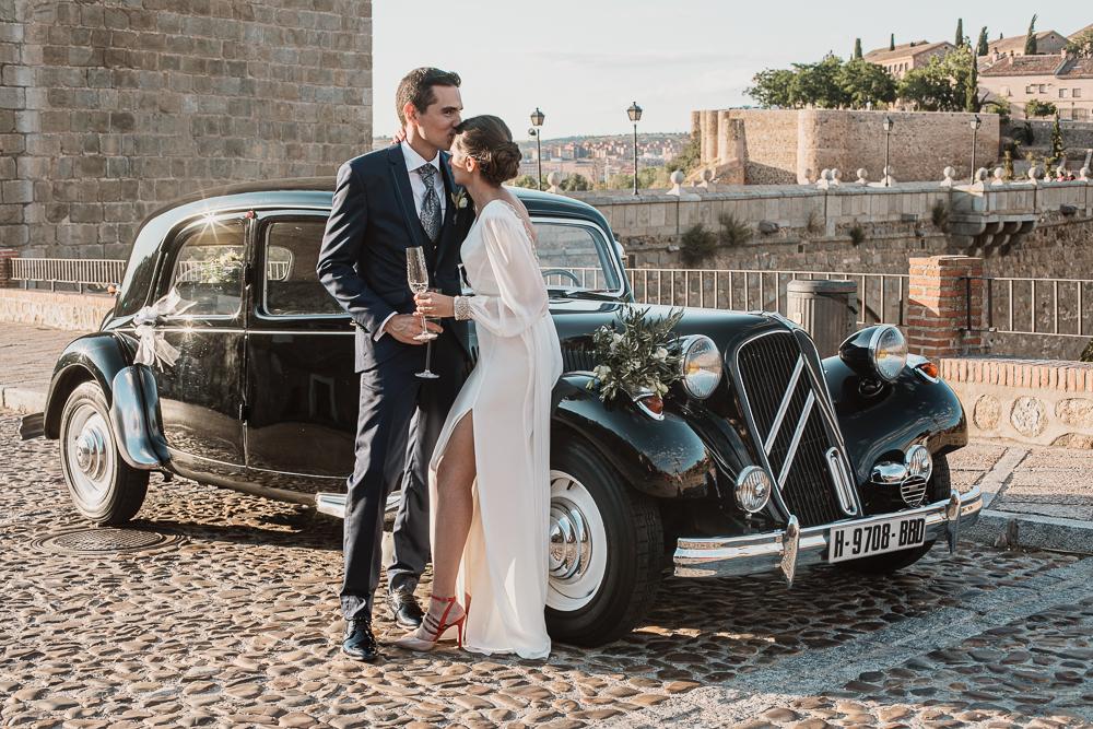 Fotos de boda en el Puente de San Martin en Toledo