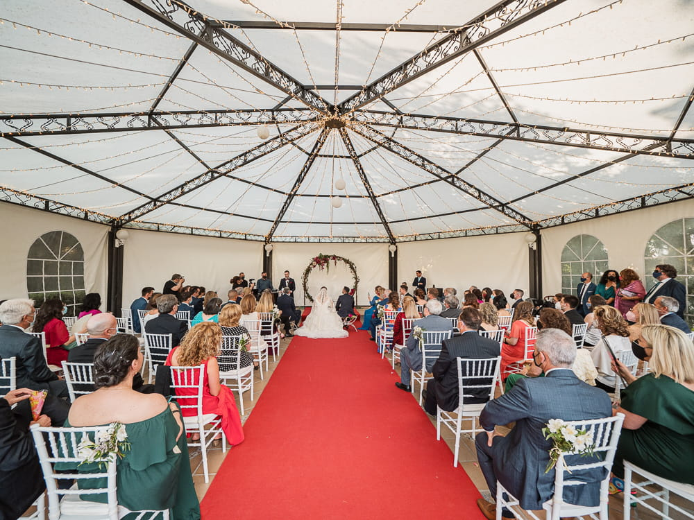 Celebración boda civil en la Finca Fuente Arcos