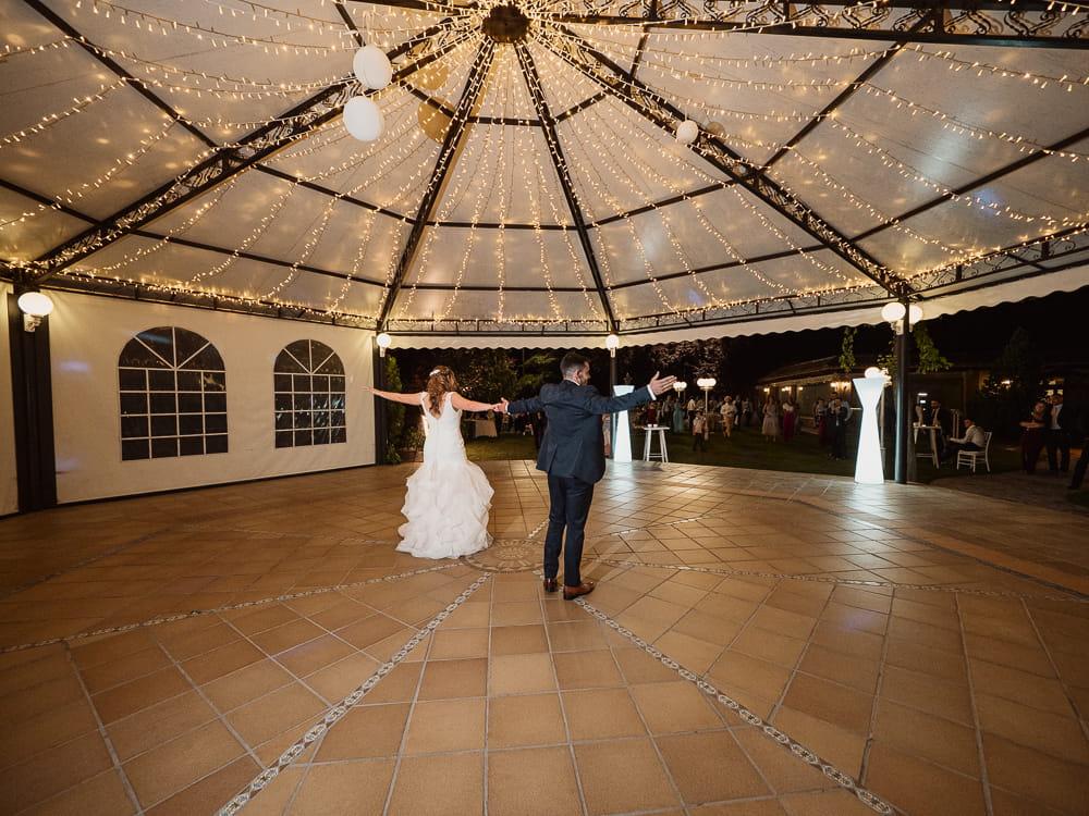 Zona de baile de la finca Fuente Arcos